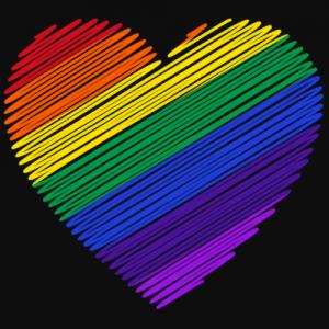 coração de arco-íris