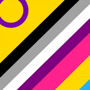 asexual intersexual and pansexual pride flags