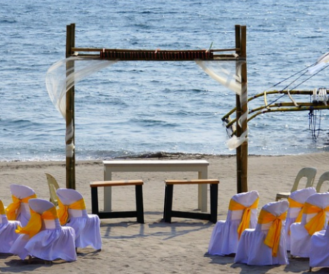 wedding on Philippines beach