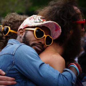 lgbtq people hugging