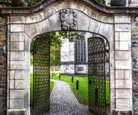 opened gate